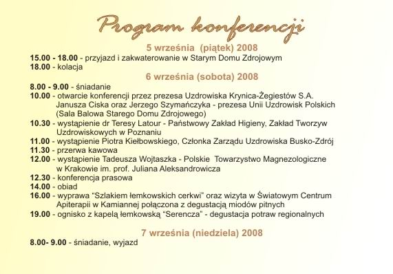 konferencja   na temat naturalnych wód mineralnych