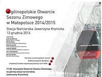 Ogólnopolskie Otwarcie Sezonu Zimowego 2014/15 w Małopolsce