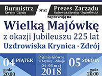 Wielka Majówka z okazji Jubileuszu 225 lat Uzdrowiska Krynica-Zdrój