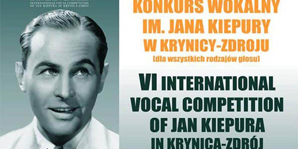 VI Międzynarodowy Konkurs Wokalny im. Jana Kiepury w Krynicy-Zdroju - zdjecie wstępu